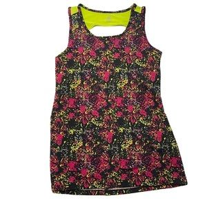 Gaiam Yoga fitness top with Abstract butterfly sml